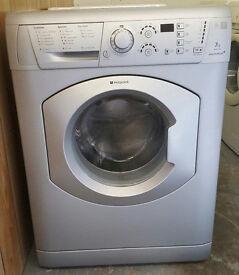 £120 Silver Hotpoint 7KG Washing Machine – 6 Months Warranty