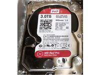 WD (Western Digital) NASware 3.0 Red PRO 3TB WD3001FFSX-68JNUN0 (223 hrs)