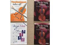 Violin study books Grade 4 & 5 baroque music