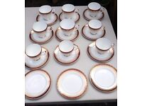 Royal Grafton, Majestic pattern Tea and coffee cups and tea plates