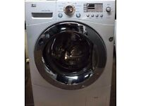 8KG LG DIRECT DRIVE WASHING MACHINE ,CHROME DESIGN,BIG LED DISPLAY, 4 MONTHS WARRANTY