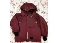 Polarn O. Pyret Kids Padded Winter Coat - Size 116 5-6 yrs - Purple