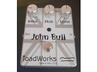 Toadworks John Bull MKI V1 British Overdrive Distortion Rare Guitar Effect Pedal