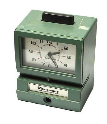 Acroprint 125nr4 Manual Time Recorder Time Clock - Sold As Is