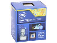 Intel Core i7 4770K Quad Core Retail CPU Socket 1150 3.50GHz, 8MB 84W Intel Graphics BX80646I74770K