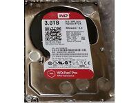 WD (Western Digital) NASware 3.0 Red PRO 3TB WD3001FFSX-68JNUN0 (224 hrs)