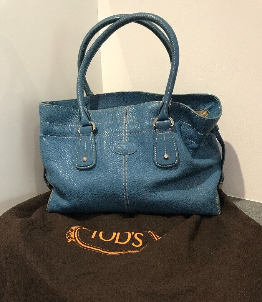 daac2453a660 Tod s turquoise soft leather medium shopping bag