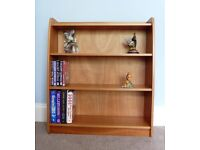 Teak Style Bookcase Very Sturdy Two Fixed Shelves
