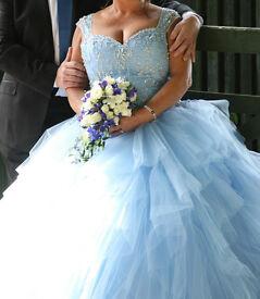 Mori Lee Wedding - Ball Gown Powder Blue Size 18/22