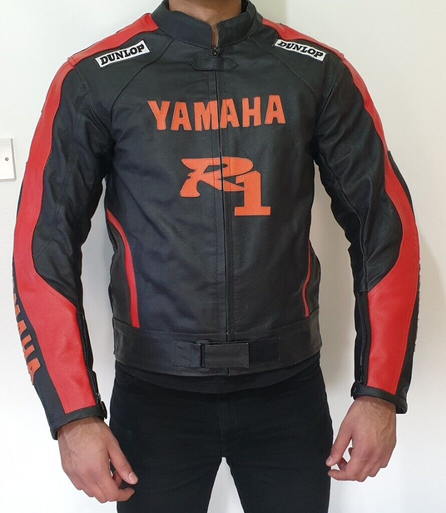 215cdc0c2 YAMAHA STYLE MEN'S MOTORBIKE LEATHER JACKET, HIGH QUALITY, HEAVY DUTY  COWHIDE LEATHER, BRAND NEW. | in Wishaw, North Lanarkshire | Gumtree