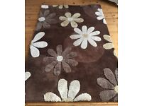 Rug. Flower Power Chocolate 180x120cm