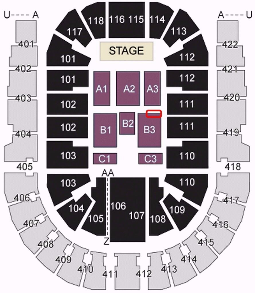 450 total for 2 x front row floor block b3 row a mariah for 02 floor seating