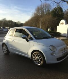 BARGAIN 08 Fiat 500 1.2cc Sport*Half Leather*Baby Blue*Lovely Car* BARGAIN £2750!!