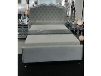 Marylin Winged Velvet bed frame - double