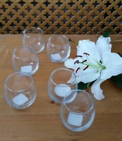 Small vase or candle holders x6 - Brand New