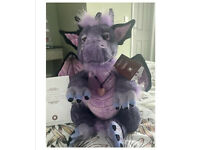 Charlie Bear Scorch Dragon, New, Limited Edition, Purple rple