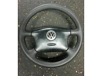 Mk4 golf 4 spoke steering wheel with airbag