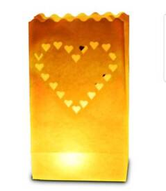 Candle Luminary bags heart design (wedding party decoration)