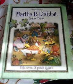 martha b rabbit jigsaw book