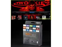 FULLY LOADED FIRESTICK WITH WOOKIE** NO NEED FOR SKY/VIRGIN ETC** FREE LATEST MOVIES/SPORTS