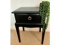 Stag Minstrel Side Table, Lamp Table - 1 Drawer in Black