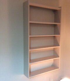 Wall or floor shelf unit.