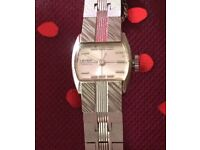 This Is A Rare Vintage Lever 17 Jewels 14ct White Rolled Gold Plate With A MOP Face Ladies Watch