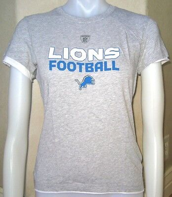 REEBOK DETROIT LIONS WOMENS CAP SLEEVE T SHIRT L LARGE LRG LG NEW TEE FOOTBALL