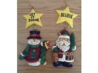 Christmas in July Pair of Hanging Christmas Tree Decorations