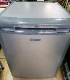 Fridge undercounter hotpoint silver grey