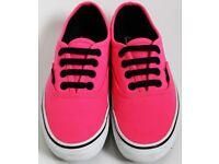 Women's Size 3 Pink Vans Trainers