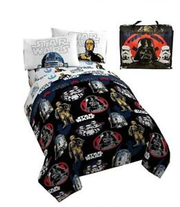 Star Wars Bed in a Bag 4 Piece Kids Twin Bedding Set with Bonus Tote