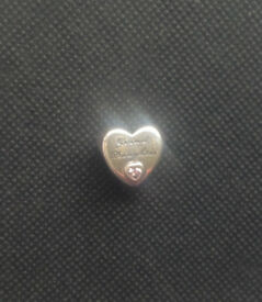 Pandora Silver Grand Daughter Heart Bracelet Charm.