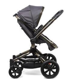 Orb pram and adaptors maxi cosi pebble plus car chair