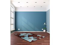brand new rug in choc and teal colour size 120x165cm ref botanic teal