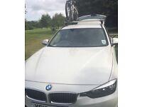 BMW 320D Luxury Tourer (White) 2013 plate