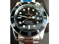 Automatic black Submariner Rolex with FREE 1st class recorded postage
