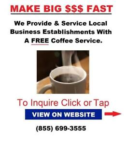 Get Paid To Place Free K-Cup Vending Machine Service In Local Businesses