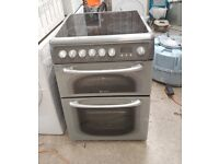 6 MONTHS WARRANTY Hotpoint 60HEG 60cm, double oven electric cooker FREE DELIVERY