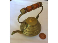 miniature vintage brass indian teapot