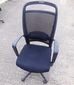 Black Aero Mesh Fabric Office Swivel Computer Task Chair (faulty lift/swivel)