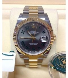 Reduced: Rolex Date Just ii Slate Grey Wimbledon Date Just 2 Watch
