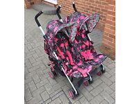 Cosatto flamingo fling double stroller