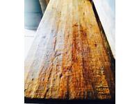 Large Primitive Oak Refectory Kitchen Dining Table