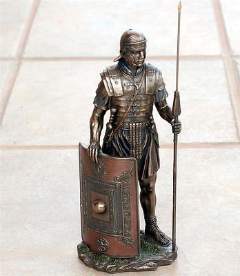 VERONESE ART ROMAN Soldier LEGIONAIRE with Spear Shield STATUE FIGURE FIGURINE B