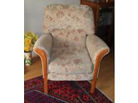 Fireside or Easy Chair in Perfect condition and is hardly used. With Fire Regulation Labels