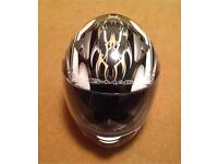 MOTORBIKE HELMET - Gmac Scirocco -white silver