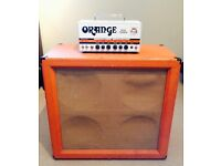 ORANGE DUAL TERROR TUBE HEAD with PPC412 4x12 CAB and CARRY CASE (used)