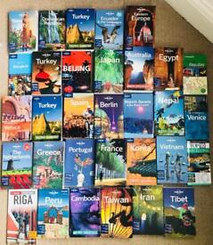Lonely planet travel guides Asia Europe to America