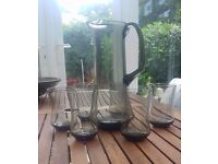 Retro 1970's Water jug and glasses